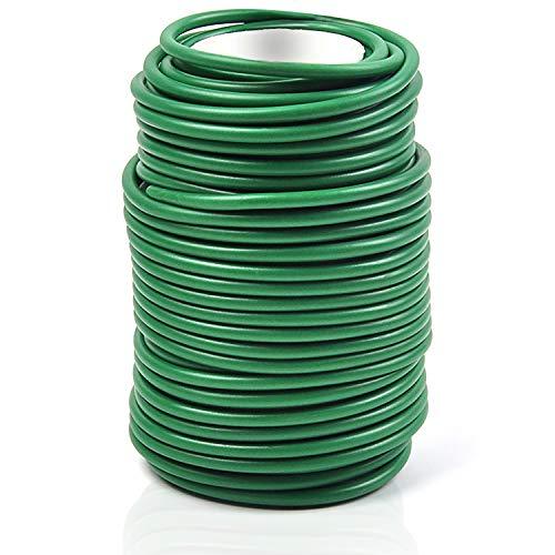 Decoroca Garden Flexible Wire Tie, Tie Soft Twist Plant Ties 65.6' - Green Support Plant Vines, Stems & Stalks