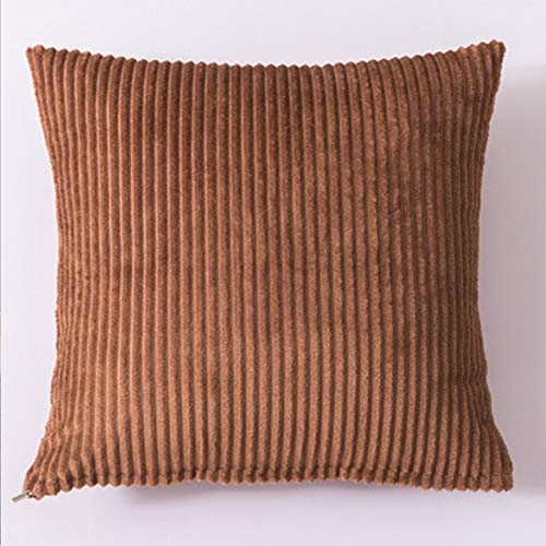 Almohada de color sólido para el hogar, sofá, almohada grande, accesorios para el coche, almohada lumbar, simple, café, 40 x 40 cm
