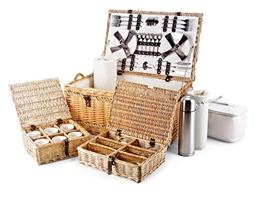 Regency Hampers Store Luxury Fitted Picnic Hamper Basket