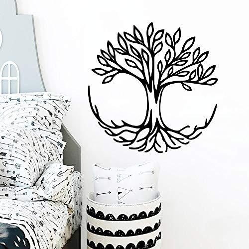 ganlanshu Nette Baum Vinyl Wandaufkleber wasserdichte Dekoration Zubehör Abnehmbare Vinyl Wandbild Tapete Dekoration 42 cm x 42 cm