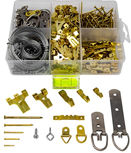 Picture Hanging Kit 450+ Pieces | Hardware for Frames Heavy Duty | Great Assortment Includes:Screws,...