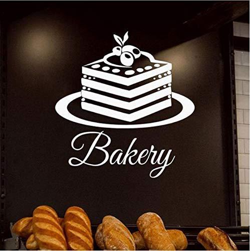 gebak, bakkerij brood, bakken, cake, koekjes, levensmiddelen, vinyl, interieurdecoratie, keuken, ramen, zelfklevend, 57 x 60 cm