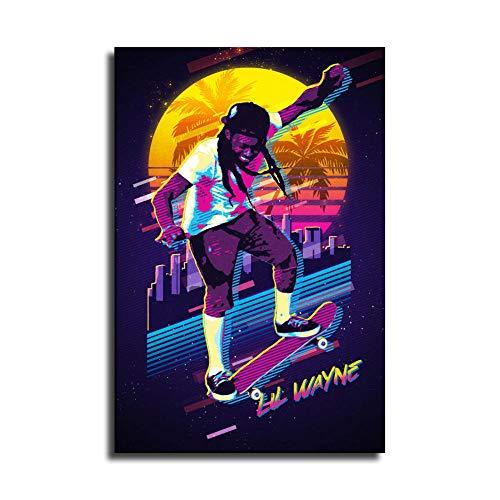 LOPIU Legends Never Die Rap Singer Lil Wayne. Hip-hop Art Canvas Print Home Decor Paintings Wall Art Pictures Posters Presents Bedroom Decor Posters