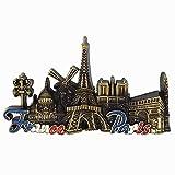 París Francia 3D Metal Nevera Imán Turístico Souvenir Regalo, Hogar y Cocina Decoración Magnética Pegatina París Francia Refrigerador Imán
