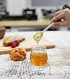 Mkouo Glas honigtopf mit Honigbehälter Honig Löffel Zum Servieren von Honig und Sirup, 9 Ounces (265ml) - 4