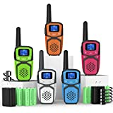 Walkie Talkies Rechargeable for Adults Kids, Portable Two Way Radios with Batteries Charger 22 Channels, Handheld 2 Way Radios for Adults Camping Hiking Cycling Outdoor Indoor Activities
