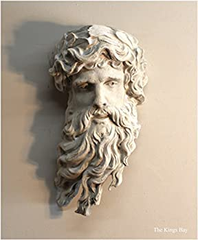The King s Bay Mighty Hercules Wall Bust Sculpture Faux Marble Stone Old Finish