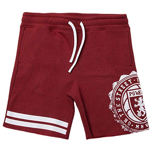 PGwear Herren Shorts Bermuda blau schwarz rot (XL, Rot)