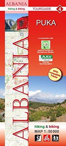 Albania hiking & biking 1:50000: Karte 4: Puka