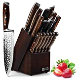 Knife Set, Elegant Life 15-Piece Kitchen...