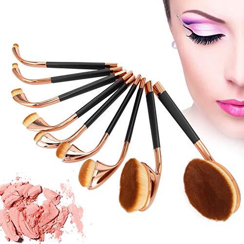 9pcs pinceaux de maquillage, forme de golf de brosse à dents, ensemble de pinceaux de base, outil de beauté de fard à paupières BB crème pour clair et impeccable(#1)