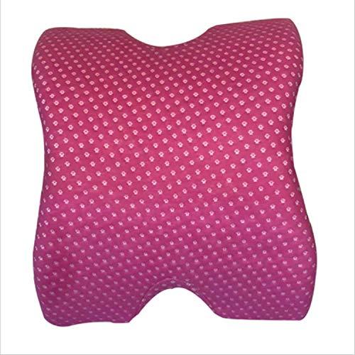 Almohada para parejas, para dormir de lado y reposabrazos, masaje cervical, almohada de cuello para dormir de lado con funda lavable, para el hogar, la oficina, el coche (rojo)