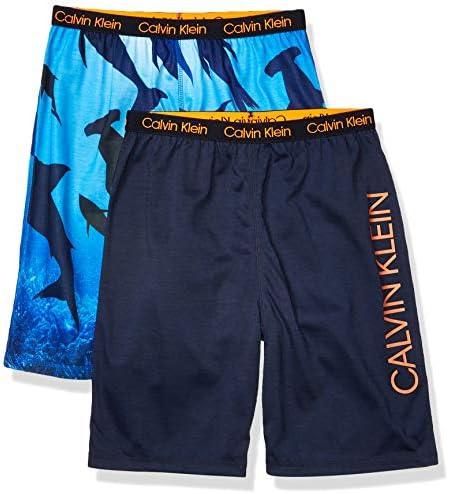 Calvin Klein Boys Lounge Pajama Shorts 2 Pack Sharks Black Medium 7 8 product image