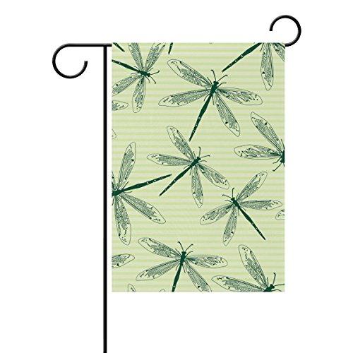 Jstel Home libellules 6 Tissu Polyester drapeaux de jardin Lovely et résistant aux moisissures personnalisés imperméables de 71,1 x 101,6 cm