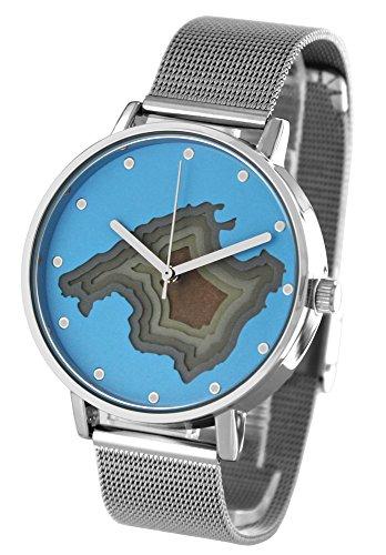 Pacific Time Damenuhr analog Quarz mit Metallarmband 20407