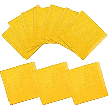 20 Pieces Painters Tack Cloth for Painting Tack Cloth for Woodworking Tack Rags for Automotive Metal Sanding Cleaning Dusting Staining Tack Cloths/Tack Rag Set 18 x 36 Inch  Yellow