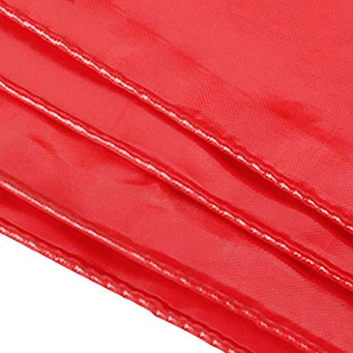 DFREW Red de Altas Prestaciones Impermeable Hoja de Lona Lona Espesar la Cubierta de Tierra Del Edificio Poo/Pintura/Suciedad Hoja/Lluvia con Ojales -100% Uv Y Resistente, de 0,45 Mm de Espesor