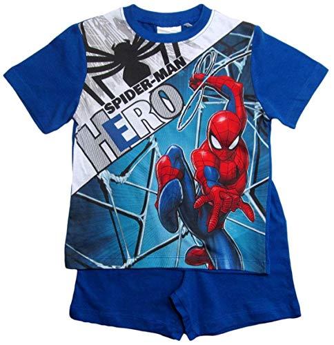 Spiderman Pyjama Kollektion 2018 Shortie 98 104 110 116 122 128 Shorty Kurz Jungen Sommer Neu Schlafanzug Marvel Ultimate Amazing (Blau, 98-104)