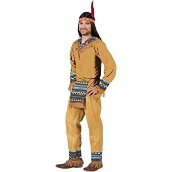 Funny Fashion Disfraz de Indio Cherokee para Hombre (XL): Amazon ...