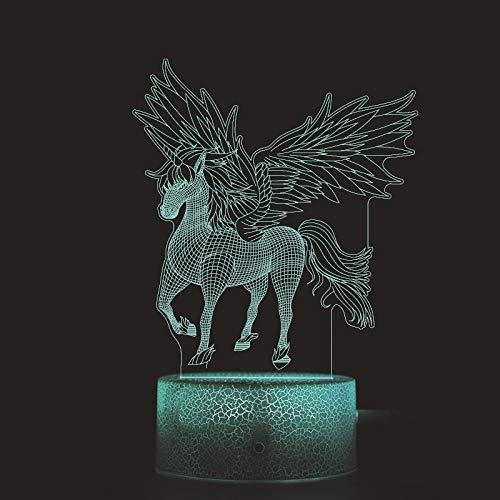LED kleurverandering kleine nachtlicht Kerstmis creatief geschenk licht 3D kleur verandering touch afstandsbediening kleine lamp, drie kleuren variabele lichtschakelaar