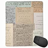 KEEHUA Alexander Hamilton Papers Collection Non-Slip Rubber Mousepad Gaming Mouse Pad with Stitched Edge 10x12 in