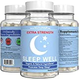 Nerve Pain Neuropathy & Diabetic Sleep Support - Recover Faster with Extra Strength Sleep Formula - 10 Scientifically Proven Ingredient to Help Nerve Pain, Insomnia, Stress & Anxiety - 6 mg Melatonin
