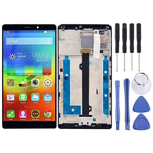 Zhangli Mobile Phone LCD Screen LCD Screen and Digitizer Full Assembly with Frame for Lenovo Vibe Z2 Pro / K920(Black) LCD Screen (Color : Black)
