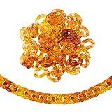 Airssory 590 anillos de cadena de eslabones de plástico acrílico de enlace rápido, cadenas de eslabones ovaladas de imitación para bolso de mano, cadena de repuesto – 24 mm
