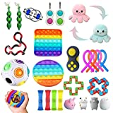 Fidget Toys Pack Barato, 26pc Juguetes Sensoriales Fidget,Set De Juguetes Sensoriales Fidget Baratos con Simple Dimple Pop Bubble Infinite Cube Stress Ball y Anti Stress Relief Toy Stress Ball