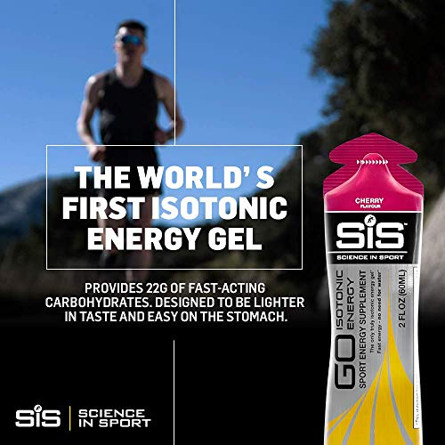 Science in Sport Go Isotonic Energy Gel with Electrolyte, 60 ml - Raspberry, Pack of 6
