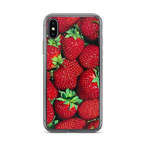 Preisvergleich Produktbild blitzversand Handyhülle Obst kompatibel für iPhone XR Erdbeere Erdbeeren Schutz Hülle Case Bumper transparent rund um Schutz M11