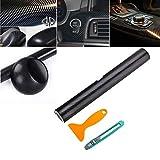 4D Autocollant Fibre Carbone Film Vinyle(200x30cm)Adhésif Noir pour voiture Auto Extérieur et Intérieur Décoration adhésif feuille de carbone véhicule automobile en noir