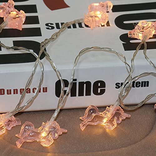 OSALADI LED Unicorn String Lights Lovely Cartoon Night Light Decoration for Wedding Party Bedroom Birthday (Warm White, 3m 20 LEDs)