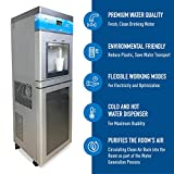 Atmospheric Water Generator with 5 Stage Filtration 3.3 Gallons, Hot and Cold Air Water Filter Dispenser with UV, Active Carbon, Reverse Osmosis Filters, Generates 8 Gallons Per Day.