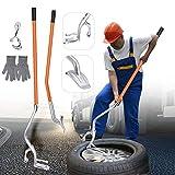SEAAN Herramienta para Desmontaje Neumáticos para Llantas de 17.5'a 24' (Actualización), Kit de Herramientas de Cambio de Llantas para Camión sin Cámara Manual, Herramientas para neumáticos