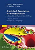 Arbeitsbuch Grundwissen Mathematikstudium - Analysis und Lineare Algebra mit Querverbindungen: Aufgaben, Hinweise, Lösungen und Lösungswege - Tilo Arens