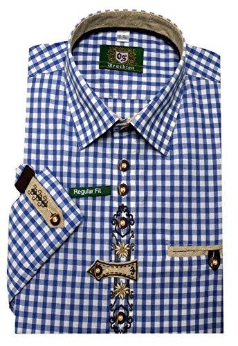 Orbis Textil Trachtenhemd blau-weiß kariert XXL