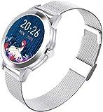 Nuevo reloj inteligente Bluetooth pulsera deportiva Fitness Tracker con monitor de ritmo cardíaco IP68 impermeable Fitness Watch 1.1 pulgadas Full Touch Color Pantalla Hombre y Mujer Inteligente