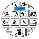 Escala digital de peso corporal de precisión Ronda Juegos Olímpicos...