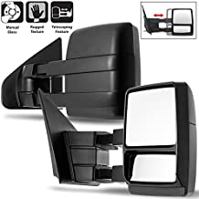 For 04-14 Ford F150 Pickup Truck Extendable Towing Manual Mirrors Left + Right Side Pair Replacement