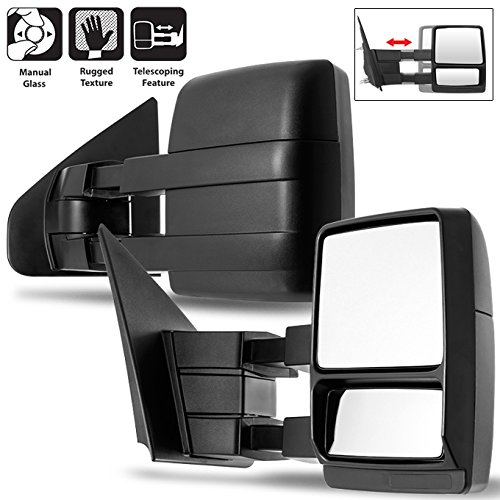 For 04-14 Ford F150 Pickup Truck Extendable Towing Manual Mirrors Left + Right...
