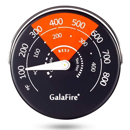 Temperatura del monitor termómetro de estufa magnética de 100-800°F (40-425°C) para evitar que el ventilador de la estufa se dañe por sobrecalentamiento