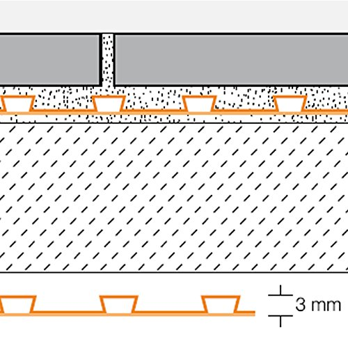Schlüter®-DITRA 25 Entkopplungsmatte 1 qm - Für Verbindung mit Fliesenbelägen als Abdichtung - 5