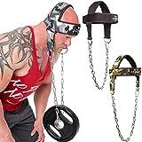 C.P. Sports Zughilfen Kopf und Nackentrainer Schwarz, One Size, mit Kette Verstellbarer Nacken Trainer, Fitness, Krafttraining