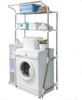 Support de machine à laver Étagères de rangement de toilettes balcon, étagères de machine à laver en acier inoxydable rétr...