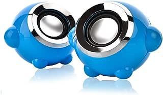 YANTING Speaker 2.0 Channel Portable USB Audio Desktop Notebook Audio (Color : Blue)