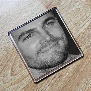 STEPHEN AMELL - Original Art Coaster #js001