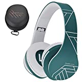 PowerLocus Bluetooth Cuffie Auricolari Pieghevoli, Over Ear Bluetooth Headphones Stereo Senza Fili Cuffie o Collegate Headset con Microfono, Micro SD/TF, FM per iPhone/Samsung/iPad/PC (Blu)