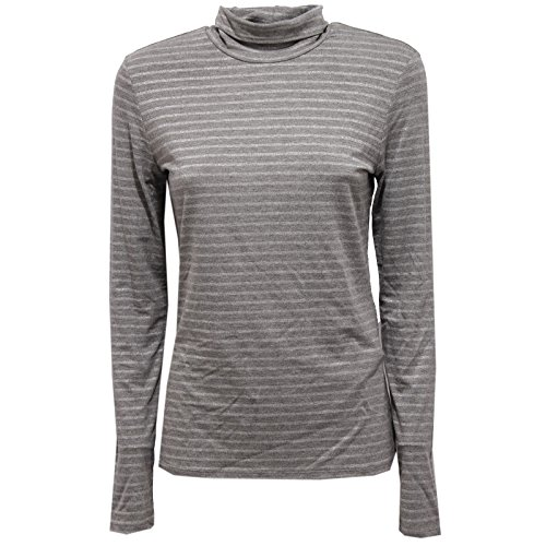 MaxMara 8868V Maglia Donna Grey/Lurex Turtleneck t-Shirt Woman [M]