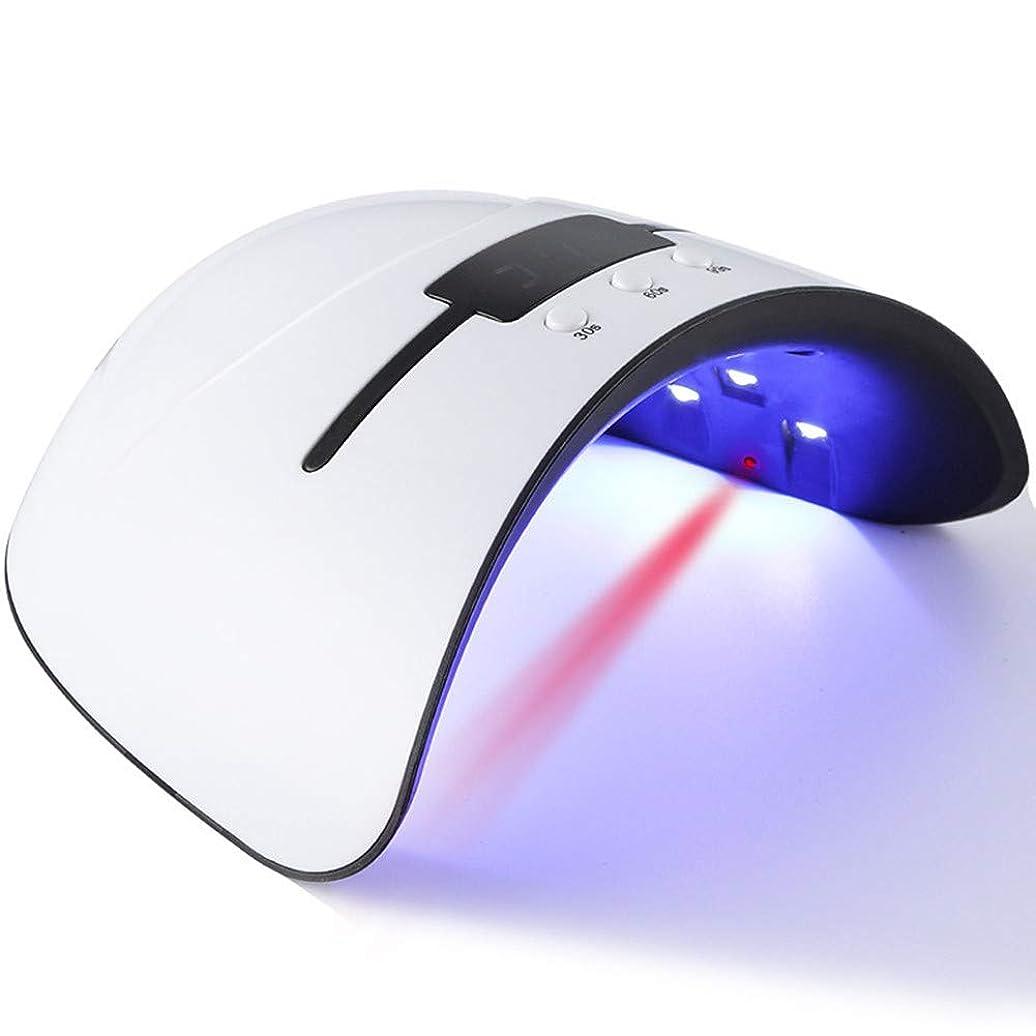 方向実用的バルブ硬化ライト ネイルlight ジェルネイル LED ネイルドライヤー 日本語説明書付属 36W 無痛硬化 赤外線検知